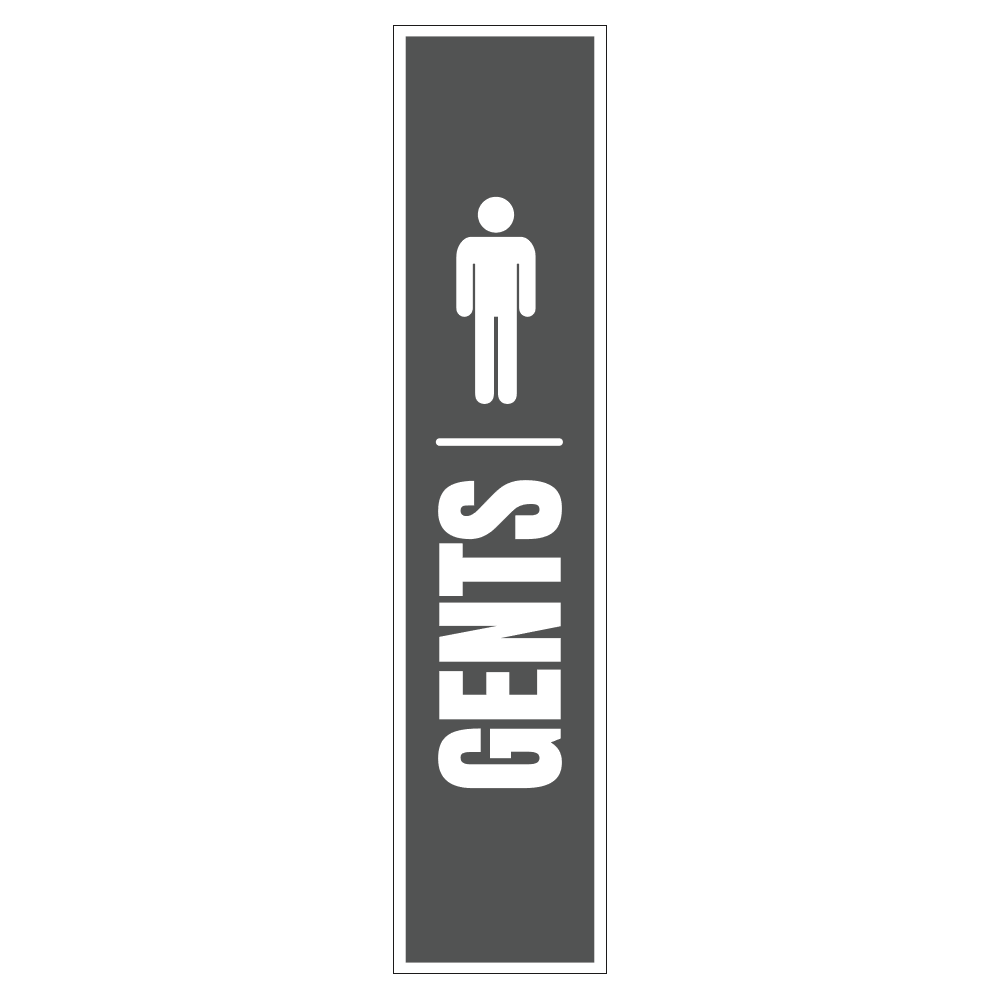 GENTS (MEN'S) RESTROOM <br> 8 in. x 36 in.