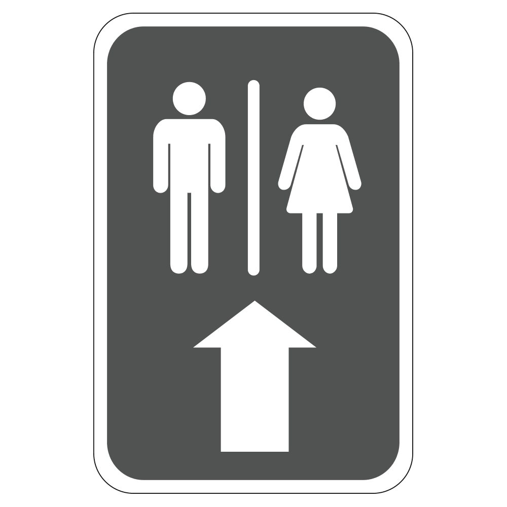 MEN'S AND WOMEN'S RESTROOM UP - SIGN <BR> 12 in. x 18 in.