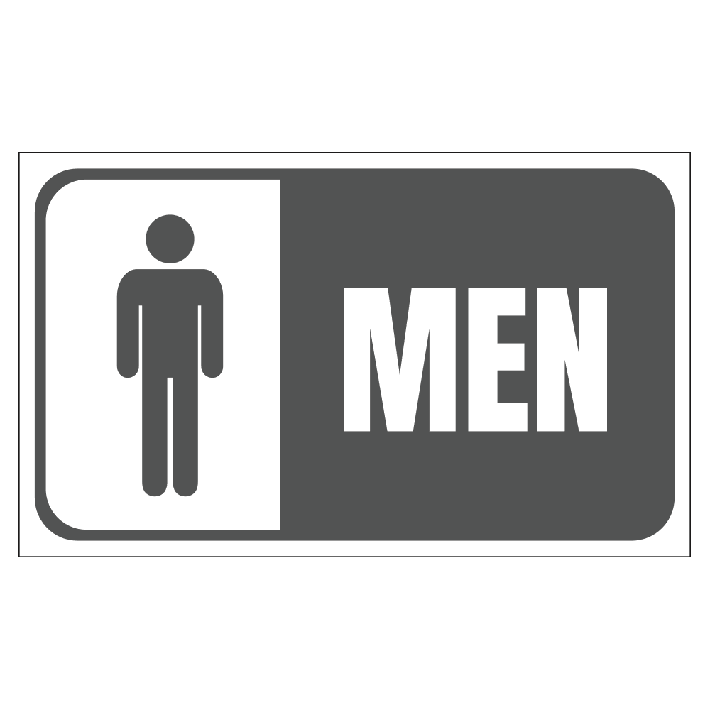 MEN'S RESTROOM - SIGN <BR> 20 in. x 12 in.