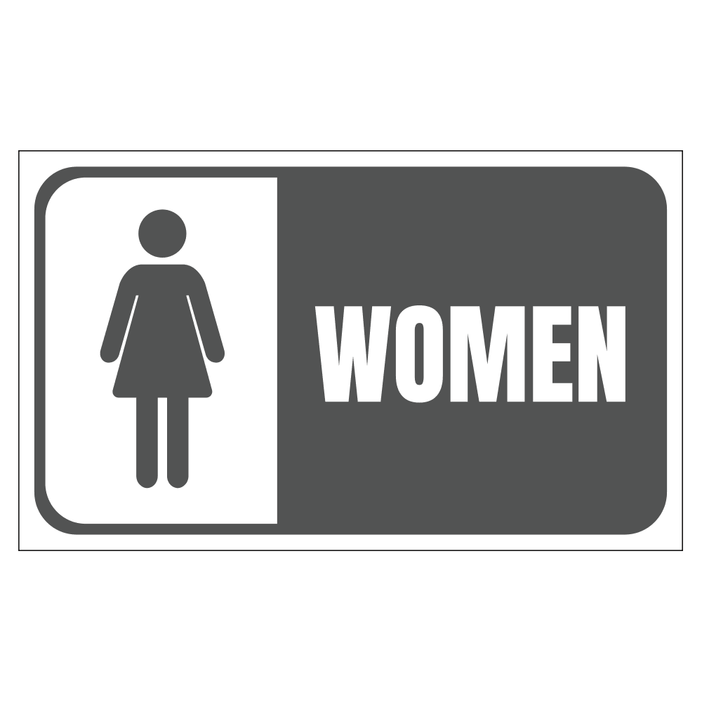 WOMENS RESTROOM - SIGN <BR> 20 in. x 12 in.