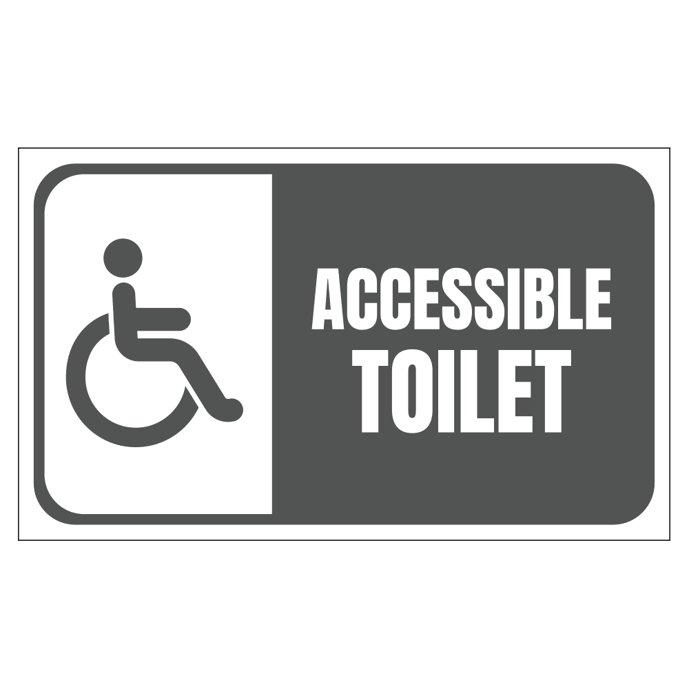 HANDICAP ACCESSIBLE TOILET - SIGN <BR> 20 in. x 12 in.