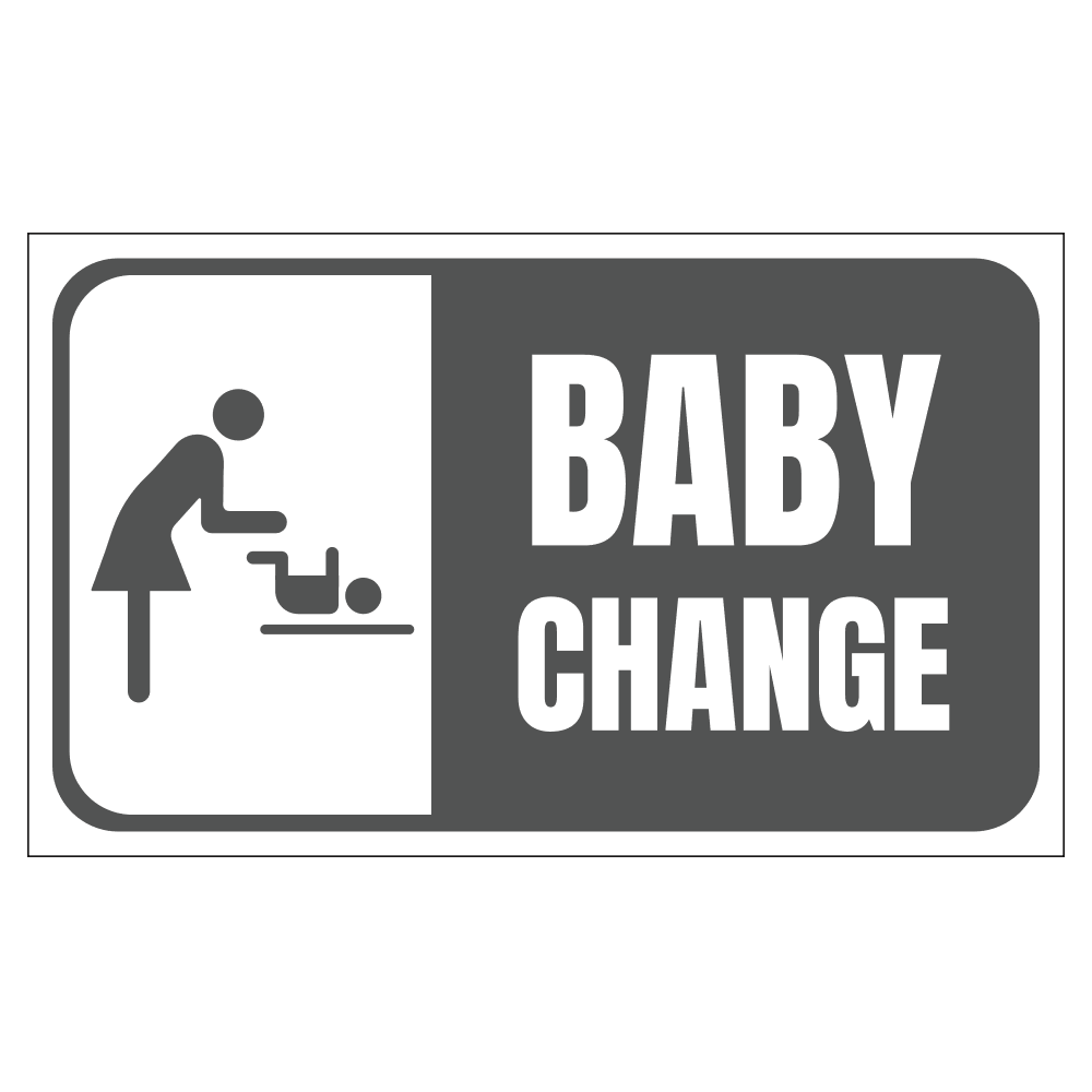BABY CHANGING STATION - SIGN <BR> 20 in. x 12 in.