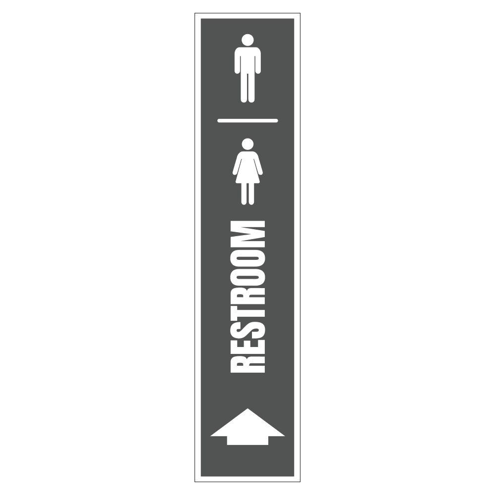 MEN AND WOMENS RESTROOM UP - SIGN <BR> 8 in. x 36 in.