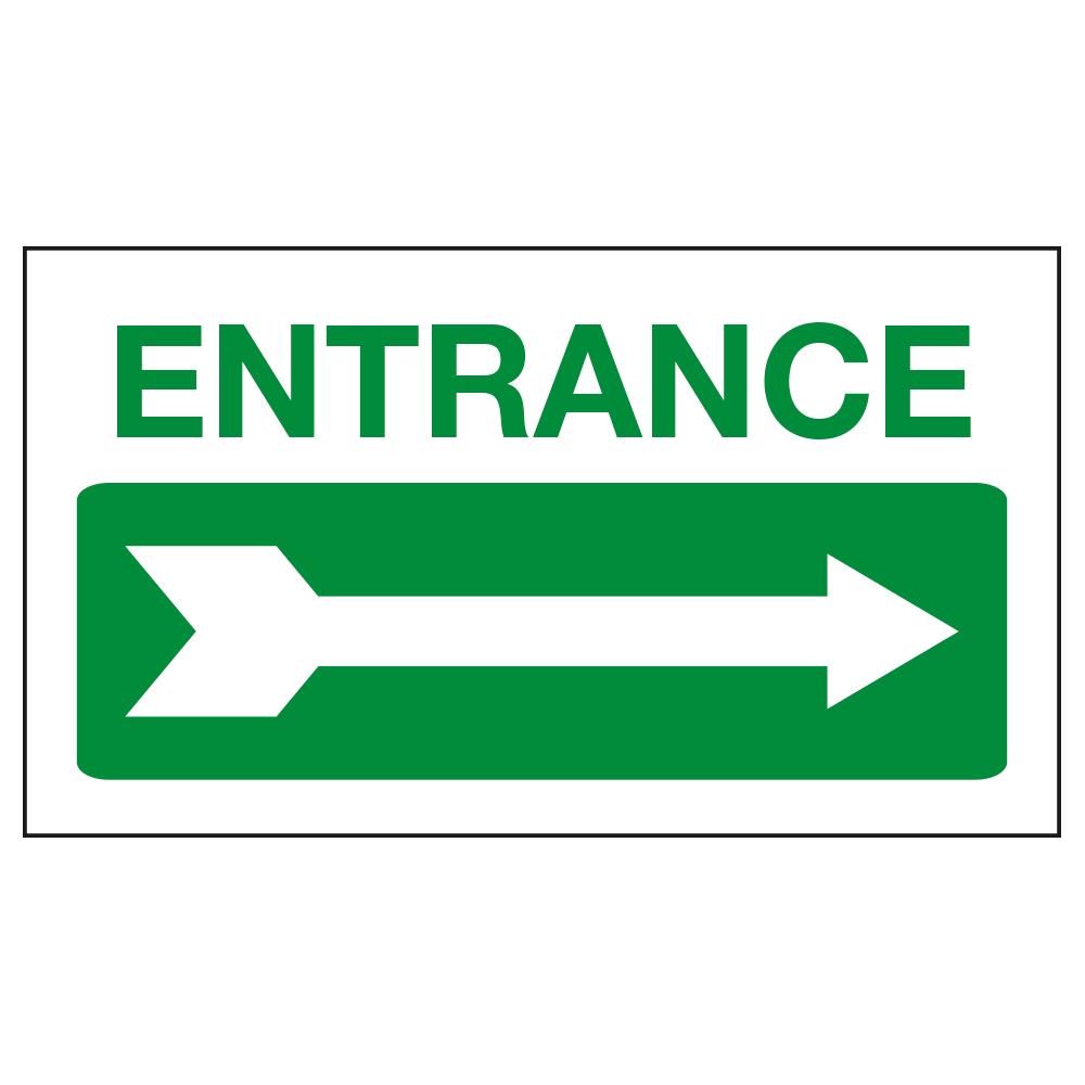 ENTRANCE ARROW - SIGN <br> 20 in. x 12 in.