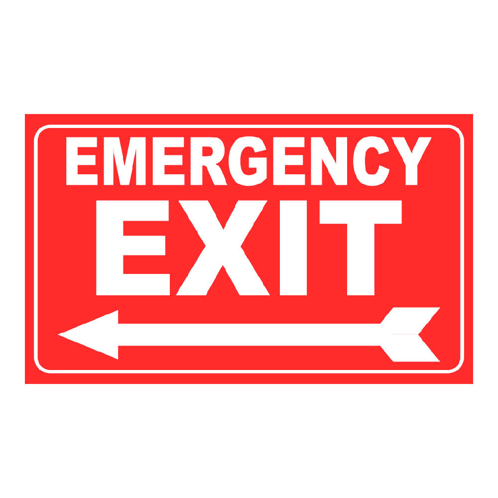 EMERGENCY EXIT - SIGN <BR> 20 in. x 12 in.