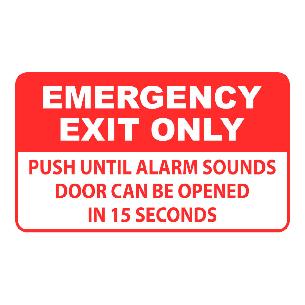 EMERGENCY EXIT ONLY, ALARM WILL SOUND - SIGN <BR> 20 in. x 12 in.