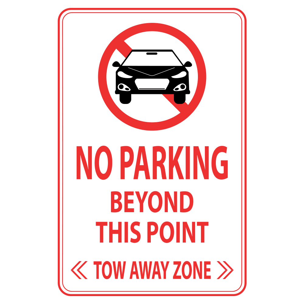 NO PARKING BEYOND THIS POINT - SIGN <BR> 12 in. x 18 in.