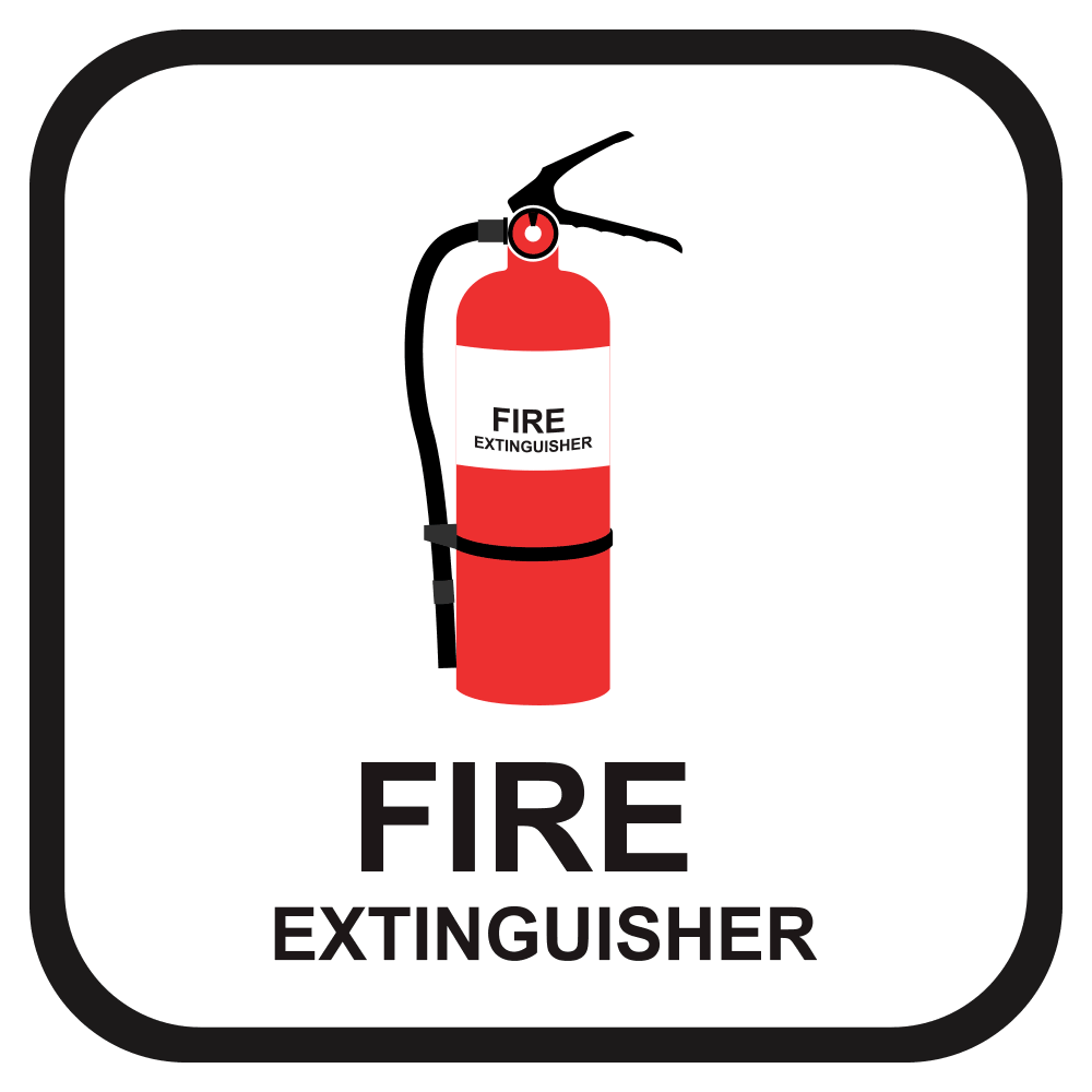 FIRE EXTINGUISHER, 10 in. x 10 in.