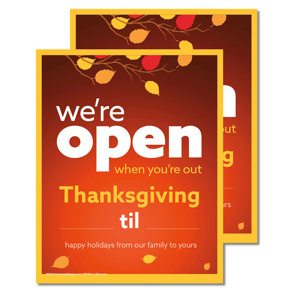 OPEN THANKSGIVING WITH SNIPES - DECAL <br>8 in. x 10 in.