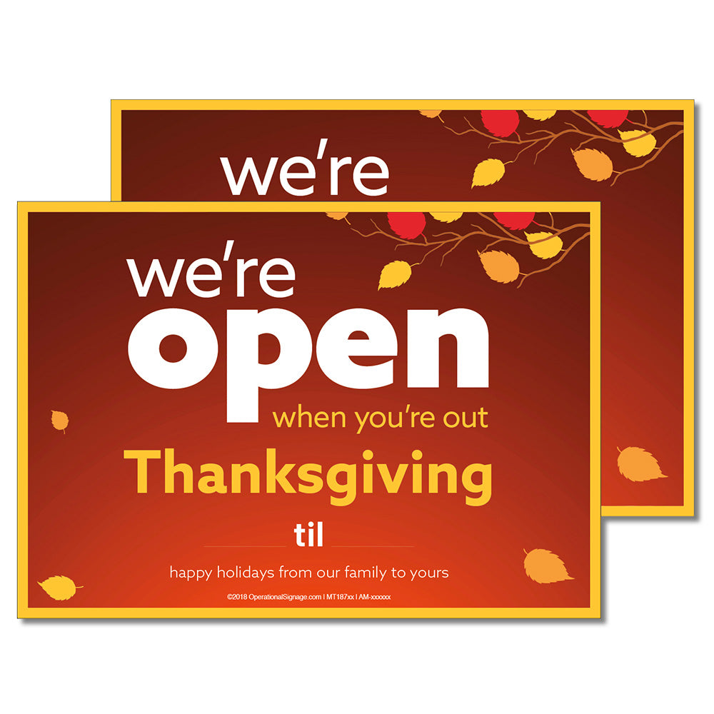 OPEN THANKSGIVING WITH SNIPES - DECAL <br>7 in. x 5 in.