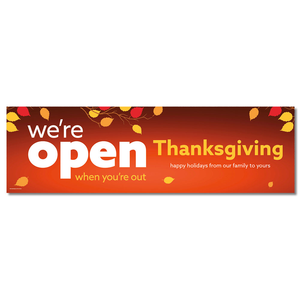 OPEN THANKSGIVING - BANNER <br>3 ft. x 10 ft.