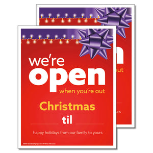 OPEN CHRISTMAS WITH SNIPES - DECAL <br>8 in. x 10 in.