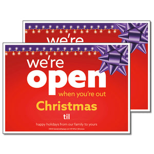 OPEN CHRISTMAS WITH SNIPES - DECAL <br>7 in. x 5 in.