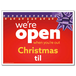 Open Christmas With Snipes - Lawn Sign  24 In. X 18 In.