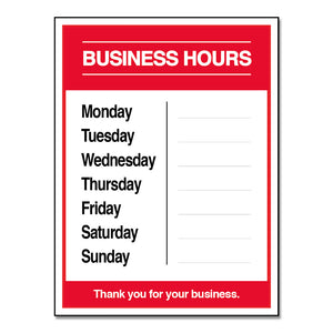 BUSINESS HOURS W/ SNIPES - DECAL<br>9 in. x 12 in.