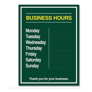 Business Hours W/ Snipes - Decal 9 In. X 12 In.