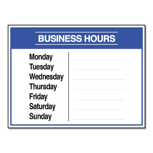 BUSINESS HOURS W/ SNIPES - DECAL<br>12 in. x 9 in.
