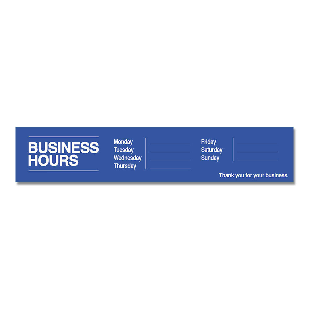 BUSINESS HOURS W/ SNIPES - DECAL<BR>30 in. x 6 in.