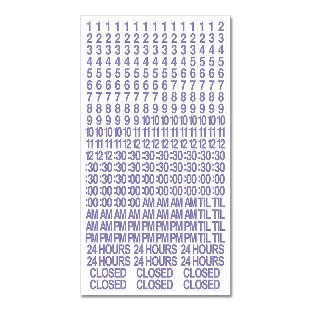 STORE HOURS SNIPES - 1/2 in. WHITE DECAL SET<br>8 in. x 15 in.
