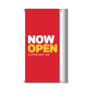 "NOW OPEN - GATEWAY BANNER <br> 24 in. x 45.75 in. <br><font color=""red""> Other colors available </font>"