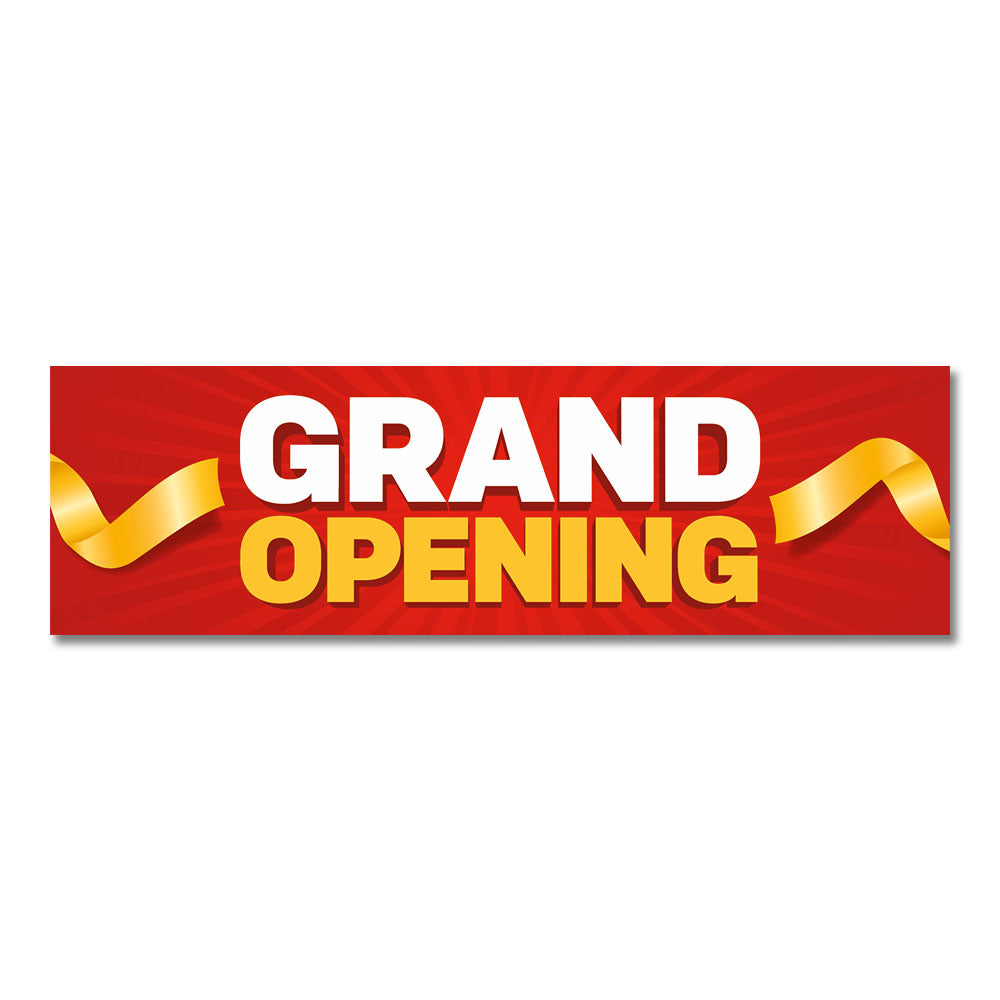 "Grand Opening - Banner - 10 Ft. X 3 Ft.  <Font Color=""Red""> Other Colors Available </Font>"