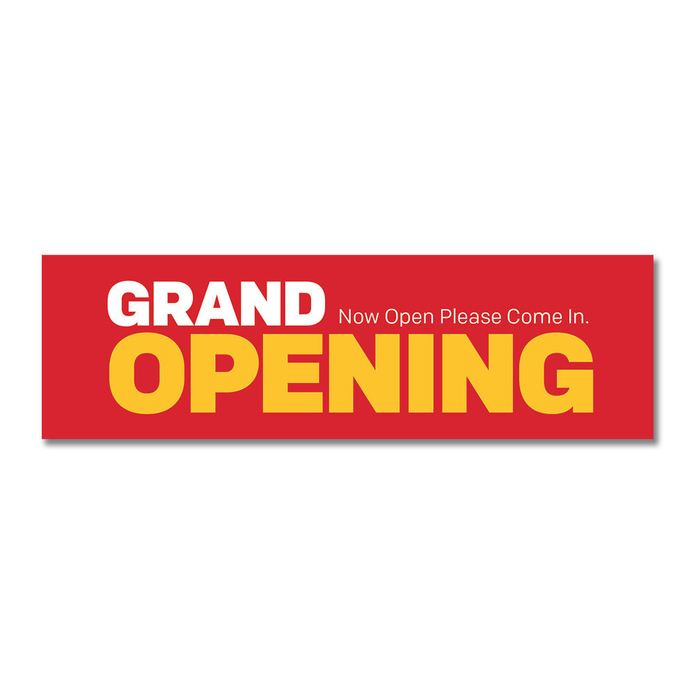 "GRAND OPENING - BANNER <br> 3 ft. x 10 ft. <br><font color=""red""> Other colors available </font>"