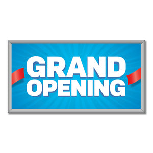 "Grand Opening - Mini Billboard Insert - 8 Ft. X 4 Ft. <Font Color=""Red""> Other Colors Available </Font>"