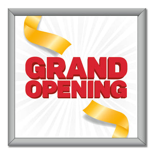 "Grand Opening - Mini Billboard Insert - 4 Ft. X 4 Ft. <Font Color=""Red""> Other Colors Available </Font>"
