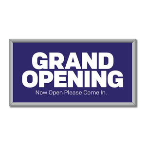 "GRAND OPENING<br> MINI BILLBOARD INSERT<br> 4 ft. x 8 ft. <br><font color=""red""> Other colors available </font>"