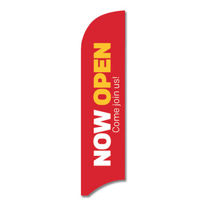 "NOW OPEN - BLADE FLAG<br> 13 ft.<br><font color=""red""> Other colors available </font>"