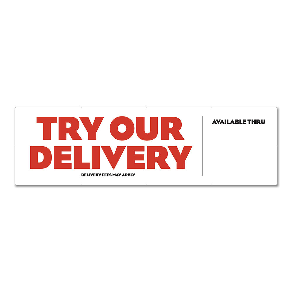 Try Our Delivery - Banner - 10 Ft. X 3 Ft.