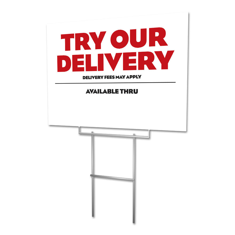 Try Our Delivery - Lawn Sign - 24 In. X 18 In.