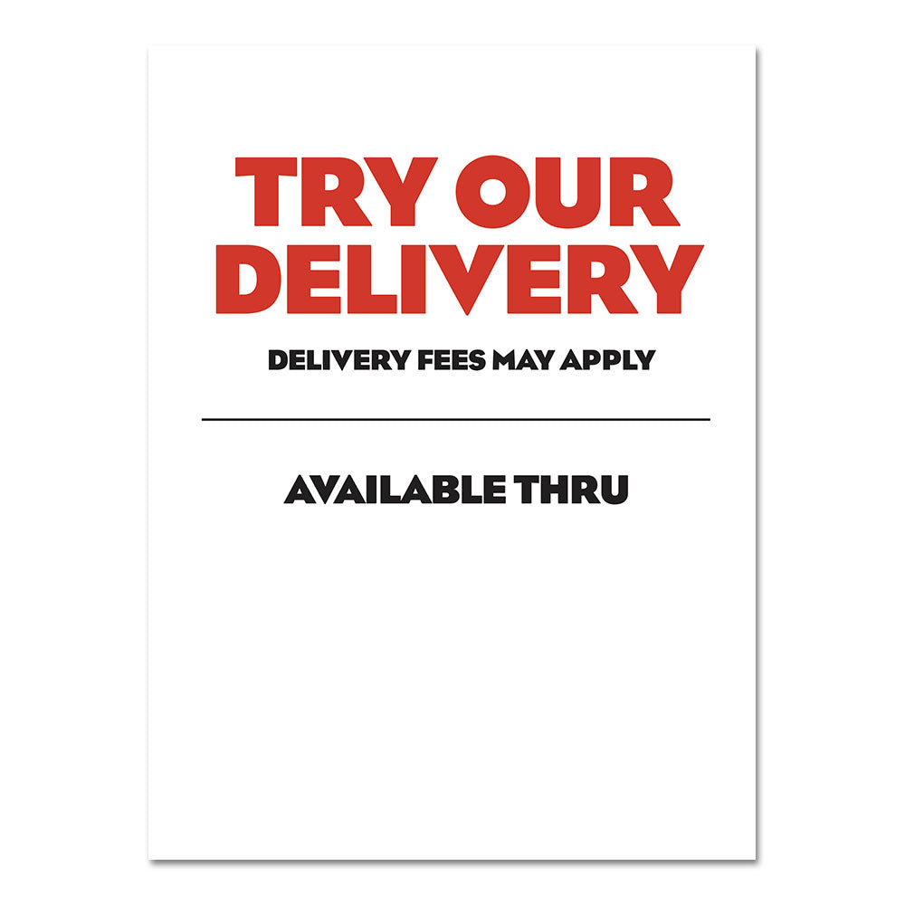 Try Our Delivery - Poster - 30 In. X 40 In.