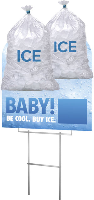 Ice Available - Lawn Sign - 24 In. X 36 In.