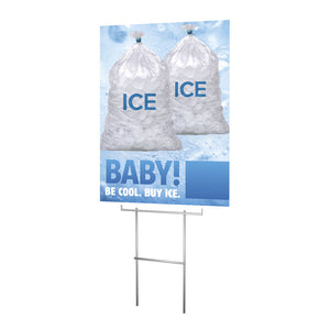 Ice Available - Lawn Sign - 18 In. X 24 In.