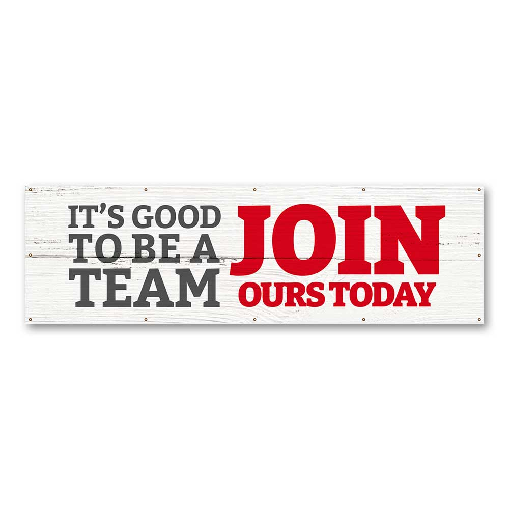 Join Our Team -  Banner 10 Ft. X 3 Ft.