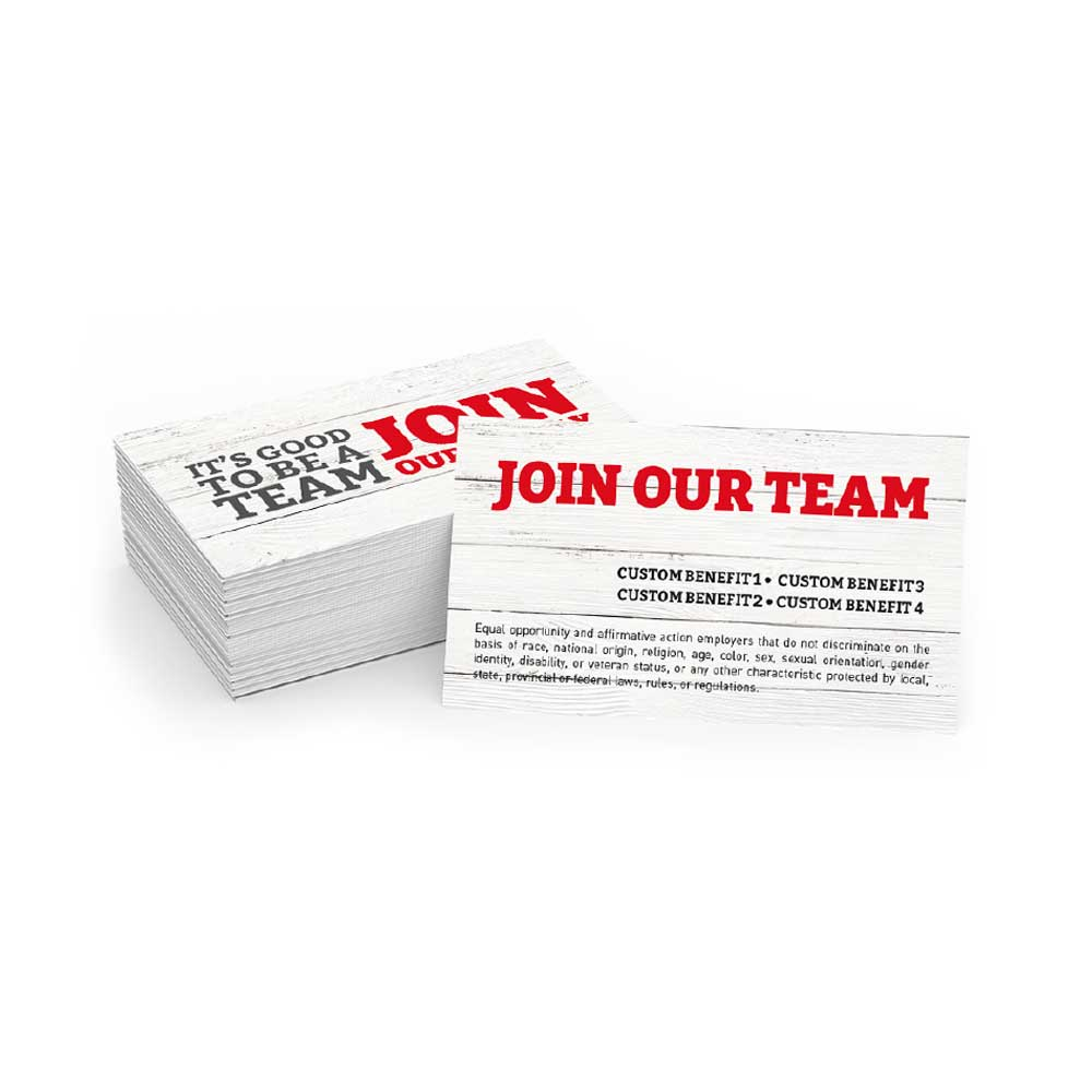 Join Our Team - Business Cards