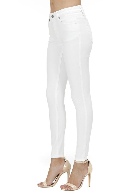 Mid Rise White Skinny Jeans by KanCan!!