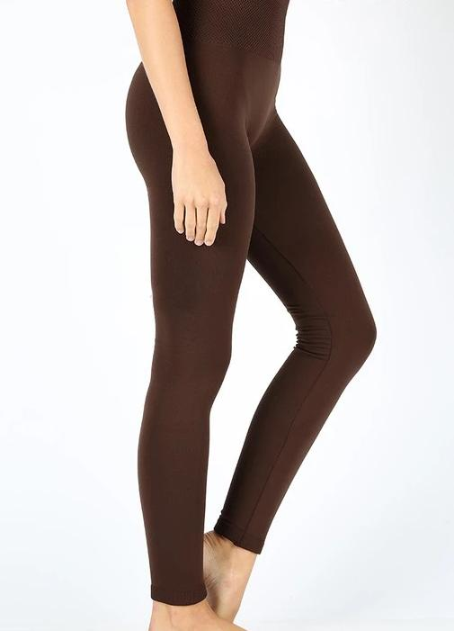 High Waist Fleece Lined Leggings: Ash Grey, or Brown!!