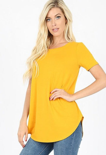 Round Neck Perfect Layering Tee: Multiple Colors!!