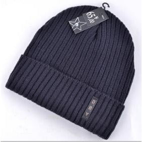 Mens Knitted Wool Velvet Beanie