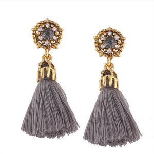 Clear line tassel tassel lady Earrings