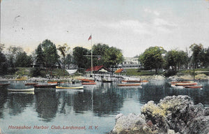 CIRCLE 7 Custom Framed Larchmont Original Postcard 1909 Horseshoe Harbor Club