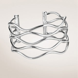 WALLACH JEWELRY DESIGNS Zina Sterling Silver Waves Cuff Bracelet