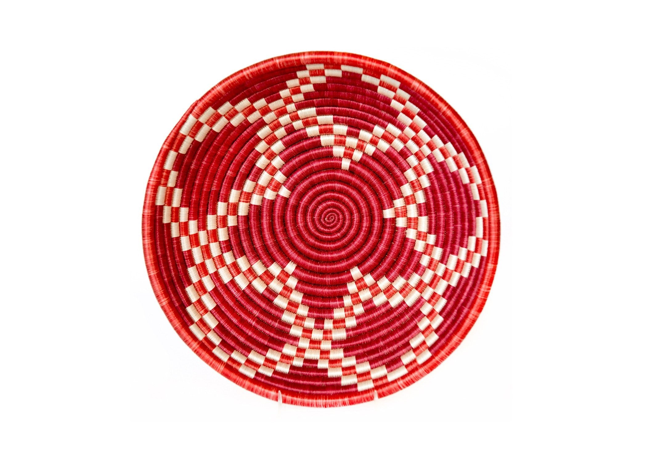 VILLAGE MERCANTILE Earth Red Handwoven Basket