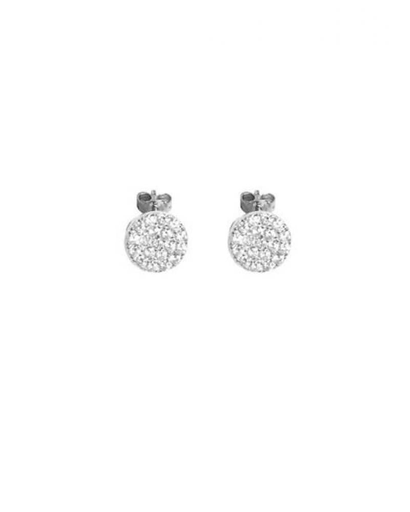 CLUTCH ON PALMER & PURCHASE Pave CZ Disk Earrings