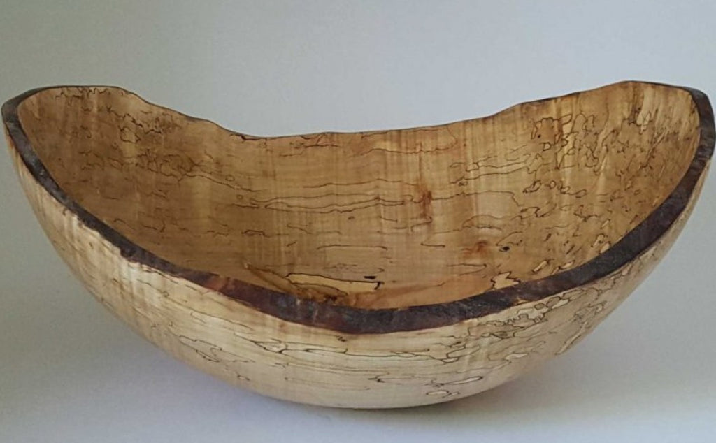 VILLAGE MERCANTILE Spalted Maple Serving Bowl