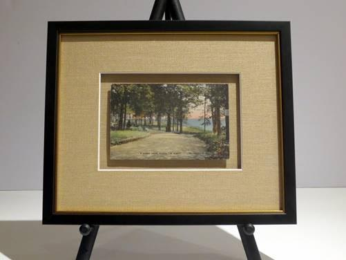 CIRCLE 7 Custom Framed Larchmont Original Postcard ca1930s Bonnie Briar Country Club