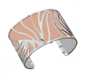 PALMER JEWELERS Les Georgettes 40MM Perroquet Silver Bangle with Leather Insert