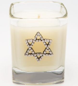 PINK ON PALMER Decorative 9 oz Hanukkah Candle